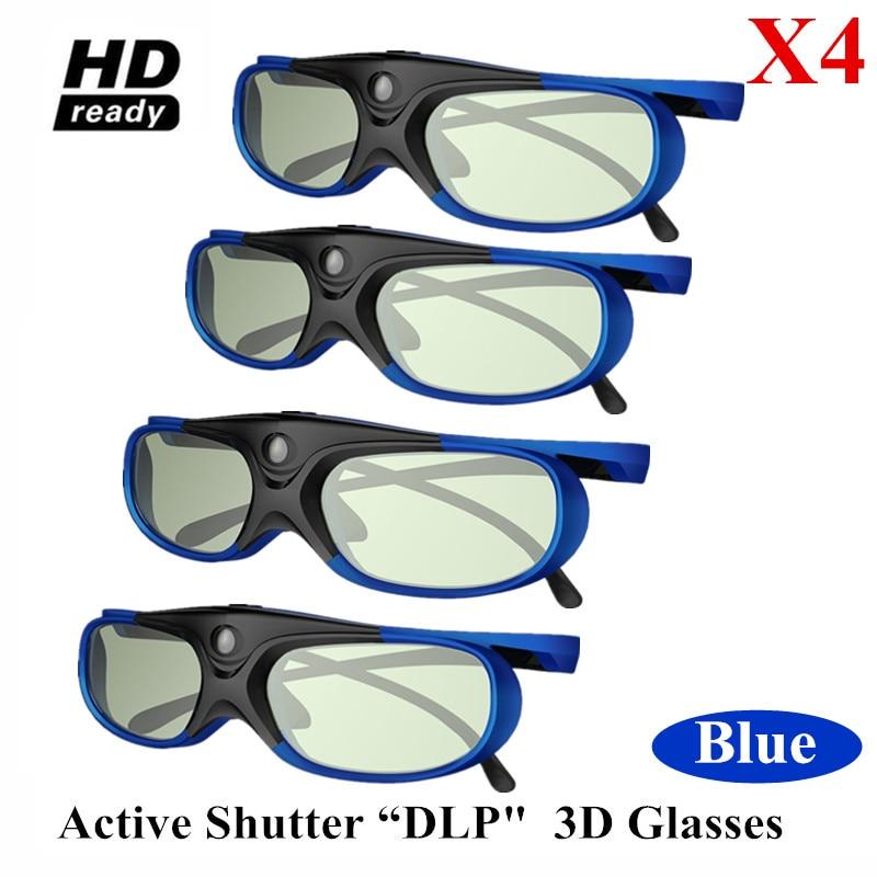4PCS LOTS ctive Shutter 96 144HZ Rechargeable 3D Glasses For BenQ Acer X118H P1502 H6517ABD H6510BD