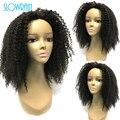 Пробор Монгольские Afro Kinky Вьющиеся Фронта Шнурка Человеческих Волос парики Девственных Человеческого Волоса Glueless Полные Парики Шнурка С Ребенком волос