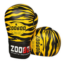 2018 New Men Women 1 Pair Zooboo Training MMA Muay Thai Kick Boxing Gloves PU Leather Breathable Boxer Boxeo Fighting MittesE