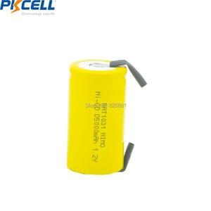 Image 3 - 5 baterias recarregáveis d 1.2 mah 5000 da bateria recarregável de pkcell nicd NI CD v dos pces parte superior lisa com parte da soldadura para a bicicleta elétrica