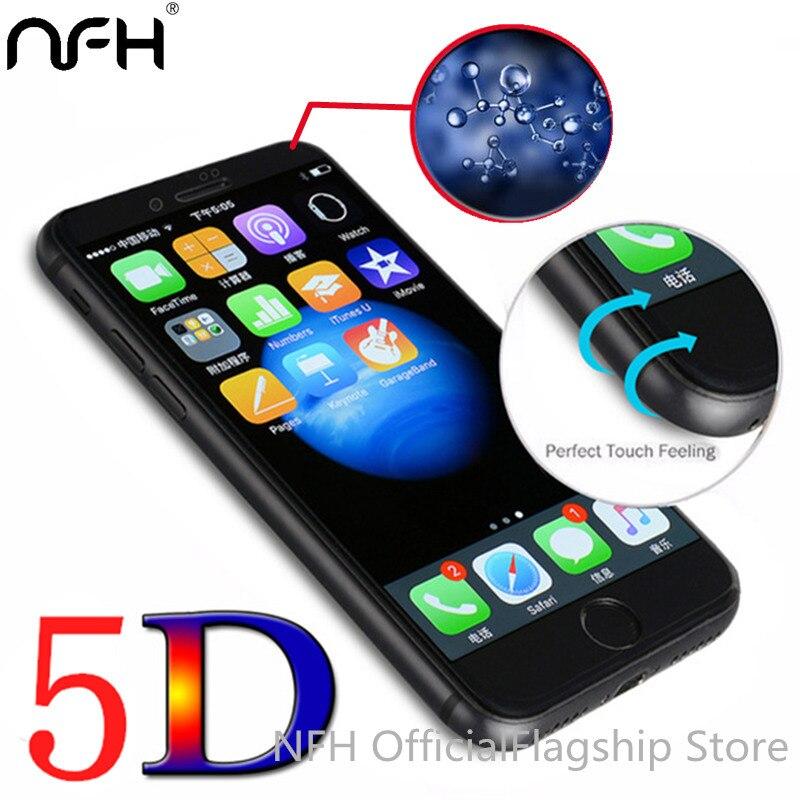 5D (2nd Gen Gen 3nd 3D 4D) completa Cobertura de Tela de Vidro Temperado Para o iphone 6 6 s 7 7 Plus NFH Caso Filme Protetor de Tela Em 4.7