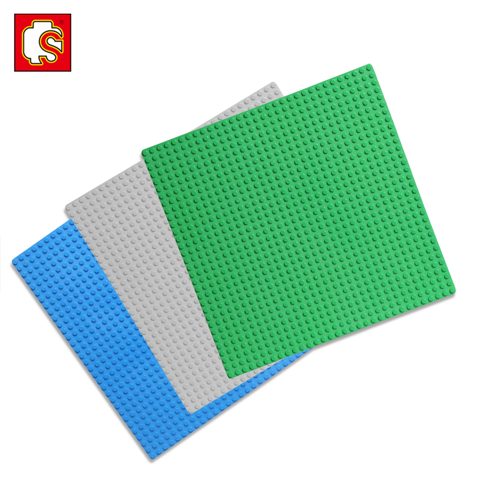 General Bricks Base Plates 3 in1 Plastic Bricks plate Compatible Legos technics city Major Brands Building Block Toys 32*32 Dots 32 32 dots plastic bricks the island straight crossroad curve green meadow road plate building blocks parts bricks toys diy