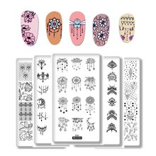 1Pcs Cartoon Animals Geometric Various Pattern Nail Art Image Stamp Stamping Plates Swan Cat Nails Templates DIY Plate Tools(China)