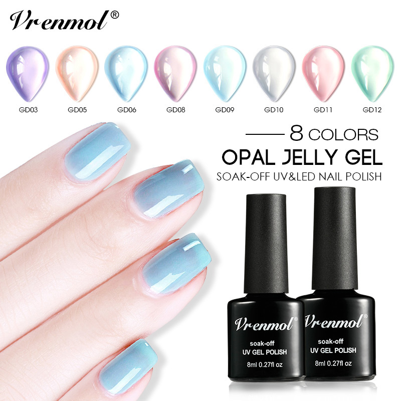 Vrenmol Nude Pink Colors Series Gel Lacquer Nail Polish
