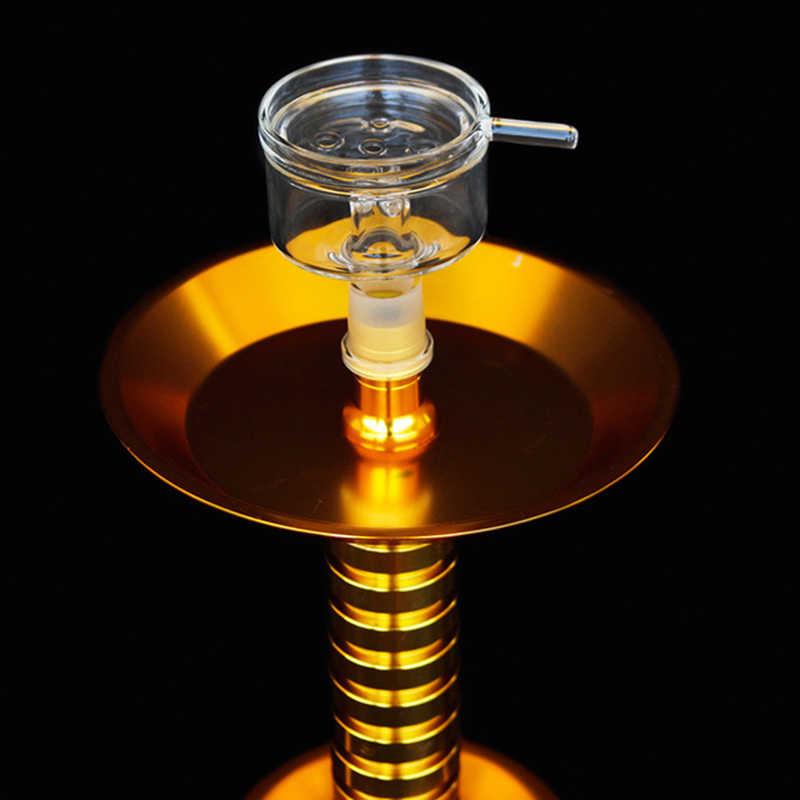Jogo de vidro cosy, bandeja para carvão 5.8cm * 5.5cm, tigela de vidro, bandeja de carvão, chicha/hookah head yj503