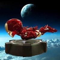 Прохладный Левитация Железный человек Магнитный Плавающий Железный человек фигурка коллекционная игрушка со светодио дный подсветкой Кол