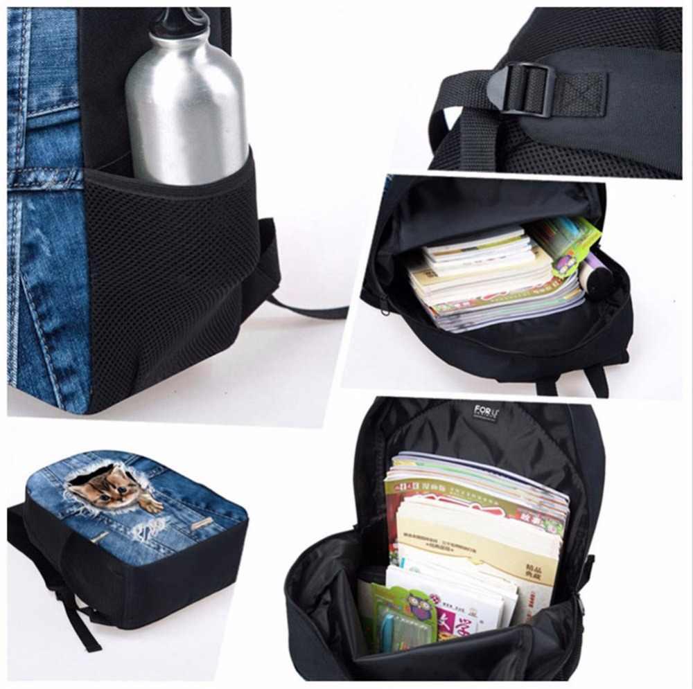 ELVISWORDS школьный рюкзак Набор доктор Медведь шаблон девушки книжные сумки дети камуфляж студентов рюкзак сумка на плечо для детей