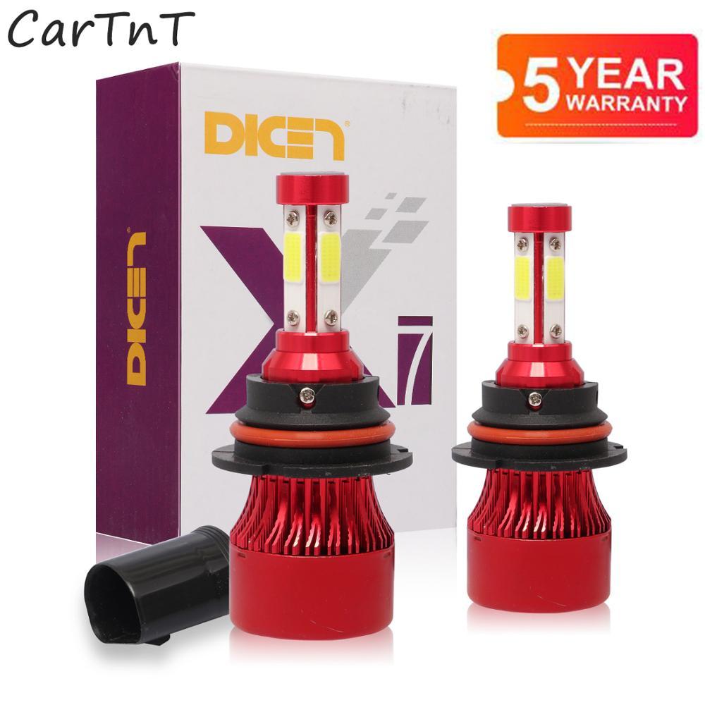 2 светодиодный т., Автомобильные светодиодные лампы H4 H7 H13 5202 9005 H8 9006 9012 HB3 HB4 9004 H11 9007 лм 6500K 12 24 В