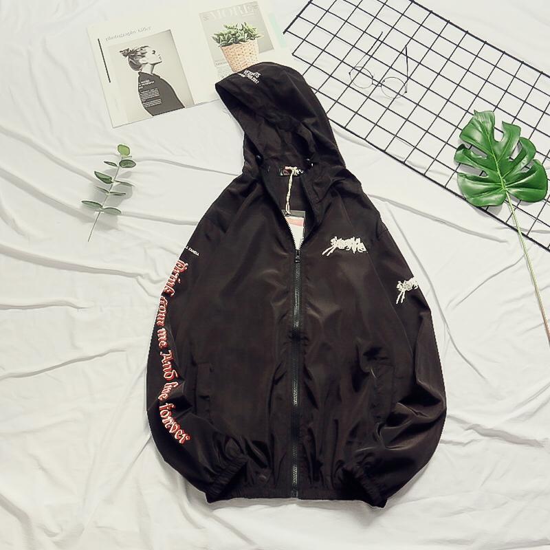 New Vetements Jackets Men Women Sun Protection Heron Preston Bomber Jacket Streetwear Windbreaker Coats Vetements Jackets