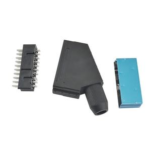 Image 2 - 10 sztuk dużo Scart JP21 wtyczka 21 pin złącze męskie podłączyć Gniazdo portu złącza interfejsu gniazdo do S N E S kabel AV