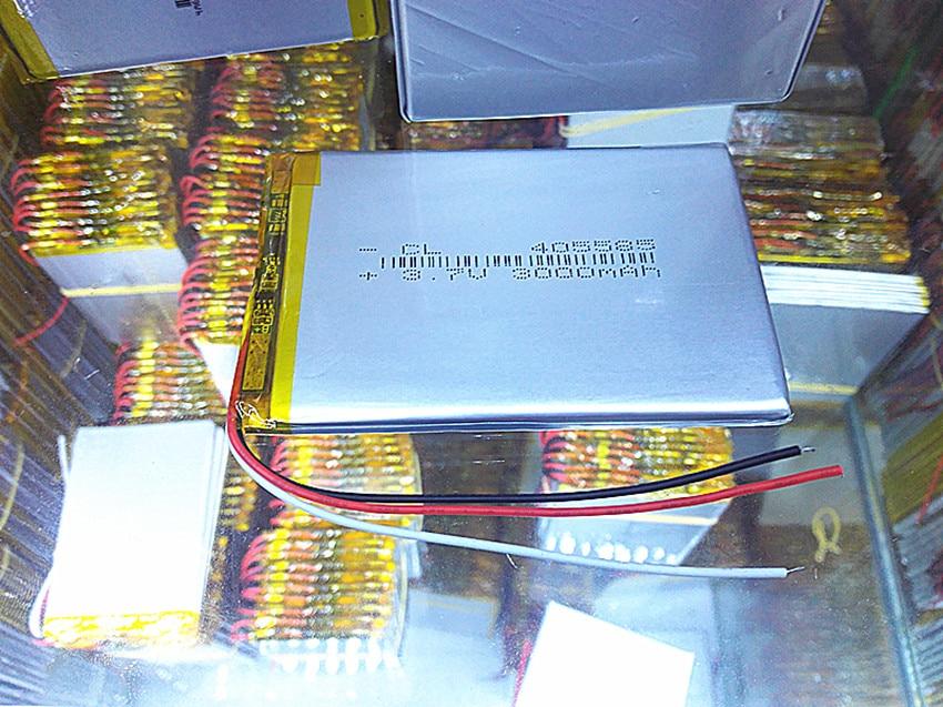 Date 405585 Au Lithium Polymère Batterie 3.7 V 3000 mAh Li ion Rechargeable batterie Accumulateur Pour Mobile téléphone Banque D'alimentation E-book