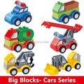 1 шт. Автомобиль Строительные Блоки Детские Развивающие Игрушки