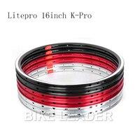 Litepro Kpro 16 Inch Folding Bike Rims Bmx Bicyele Wheel 349 Rims For Brompton