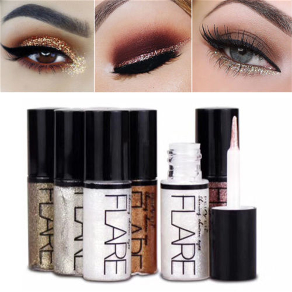 Eye-Liner-Pen Cosmetics Makeup Liquid-Glitter Silver 1pc For Women Rose-Gold-Color Beauty-Tools