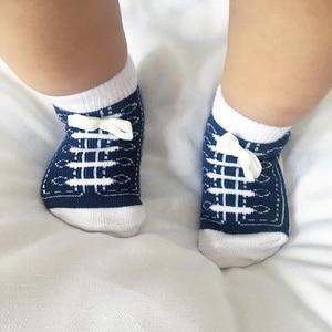Image 2 - 6 Pairs Baby Socken Lot Neugeborenen Socken Baumwolle Baby Mädchen Jungen Socken Set Nette Kinder Kleinkind Socken Schuhe Zubehör Bunte sommer