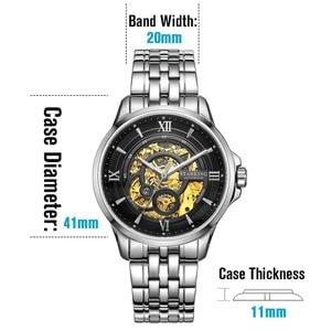 Image 4 - Starking 럭셔리 시계 남자 해골 자동 기계 시계 중국 유명 브랜드 스테인레스 스틸 시계 relogio masculino