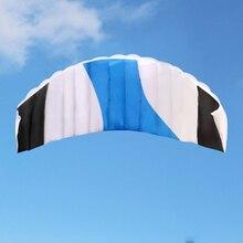 140x55 см Бескаркасный мягкий двойной линии трюк воздушный змей-параплан огромный парафат парашют спортивный пляжный змей легко лететь высокое качество