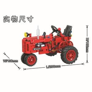 Image 2 - Technic 7070 302pcs Technic Classical Classic Old Tractor building block Brick Toys Compatible  Technic