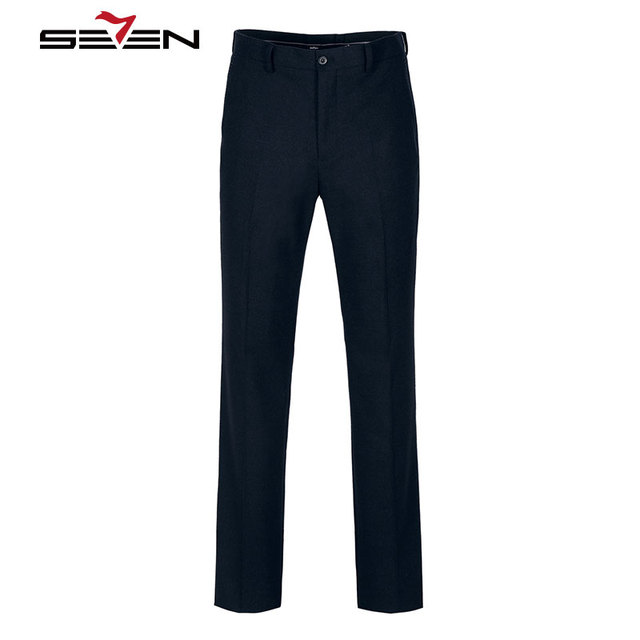 Seven7 Brand Wool Suit Pants Fashion Men's Classic Long Business Formal Pants Casual Winter Autumn Male Trousers 703B7696