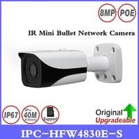 DH Free shipping New 4K IPC HFW4800E upgraded to IPC HFW4830E S Ultra HD Network Small IR Bullet IP Camera English Firmware