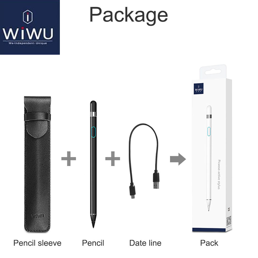 WIWU Stylus Touch Pen for iPad 2018 Pro 9.7 10.5 12.9 inch for Apple Pencil Stylus Pen for Capacitive Screen Universal Touch PenWIWU Stylus Touch Pen for iPad 2018 Pro 9.7 10.5 12.9 inch for Apple Pencil Stylus Pen for Capacitive Screen Universal Touch Pen