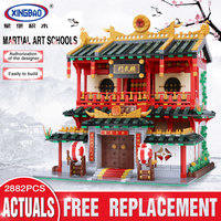 XingBao 01004 2531Pcs Creative Building Series The Chinese Martial Arts Model legoing Children Building Blocks Bricks Toy Gift