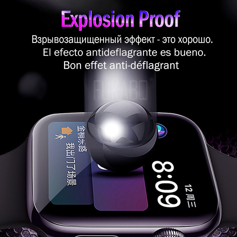 Image 5 - 10D screen protection For Apple Watch Series 4 Watch 3 2 1 Protective Film For Apple Watch 4 3 2 1 38 40 42 44 MM HD Soft Film-in Phone Screen Protectors from Cellphones & Telecommunications