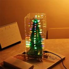 DIY Kit RGB светодиодной вспышкой цепи комплект Красочные 3D Новогодние ёлки комплект MP3 Music Box с В виде ракушки Рождественский подарок электронный Fun suite