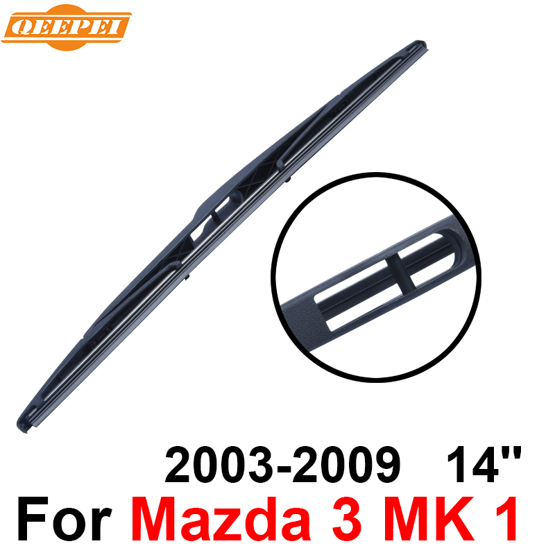 Frank Qeepei Rear Windscreen Wiper No Arm For Mazda 3 Mk 1 2003-2009 14 5 Door Hatchback High Quality Iso9001 Natural Rubber C2-35 Fragrant In Flavor