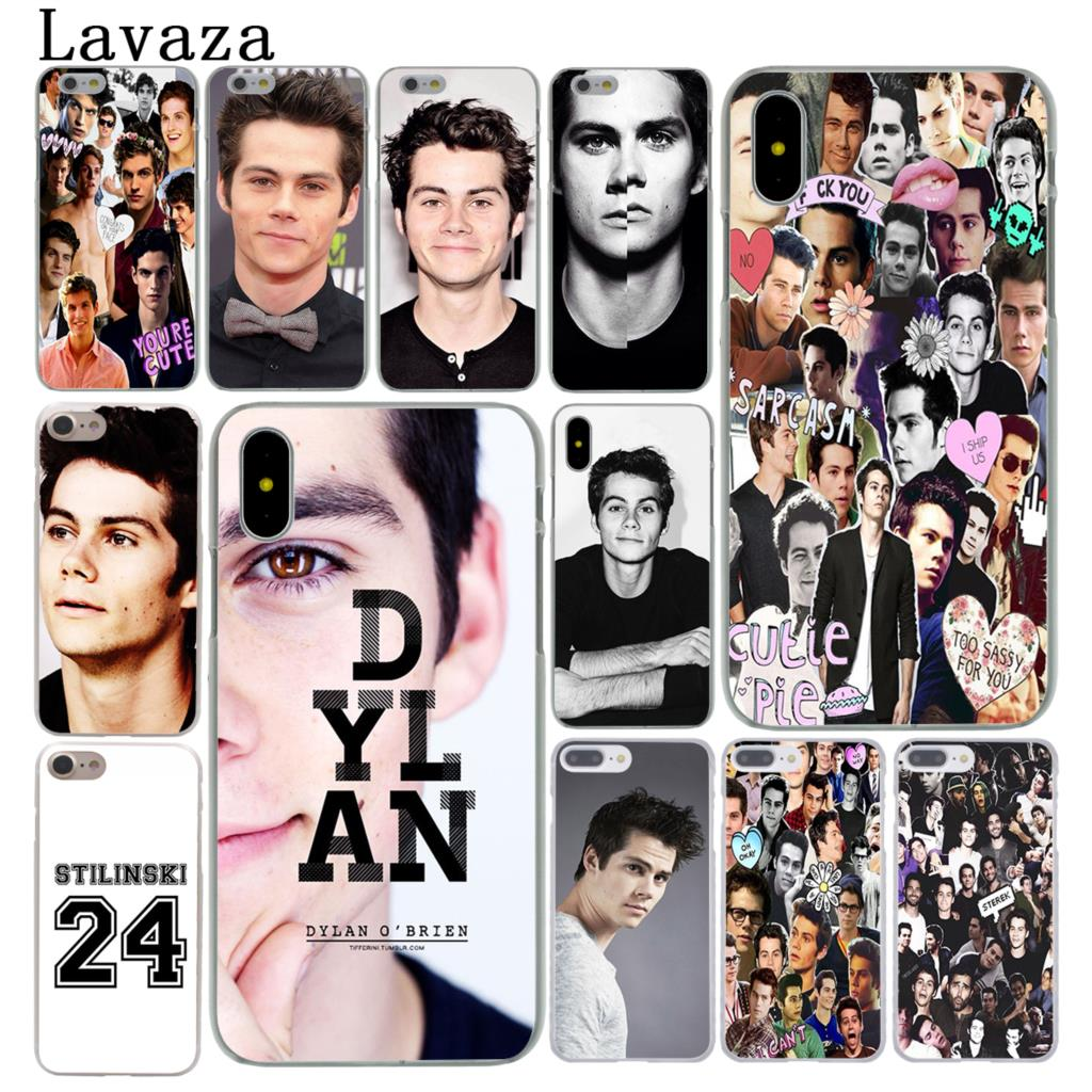 Lavaza Dylan O'Brien Teen Wolf Hard Cover Case for Apple iPhone X XS Max XR 6 6S 7 8 Plus 5 5S SE 5C 4S 10 Phone Cases 8Plus