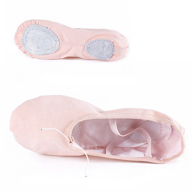 According The CM To Buy,Canvas Pink Ballet Dance Shoe For Girls Children Woman Zapatos De Punta De Ballet Slippers Free Shipping