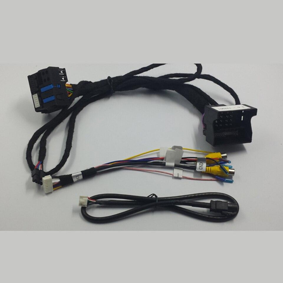 Modo de Interface de Backup Câmera de Visão Traseira do veículo DVR Vídeo Intergration Port Adapter Changer Para Mercedes E250 Orientações Estacionamento - 5