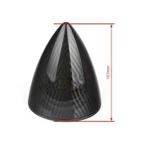 1 Piece 5 inch Unslotted Carbon Fiber Spinner For RC Airplane