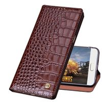 QH04 Crocodile pattern genuine leather phone bag for LG G6 Plus phone case for LG G6 flip case free shipping