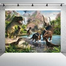SJOLOON dinossauro fotografia vinil pano de fundo a fotografia crianças cenário impressão numérico foto backdrops para estúdio adereços