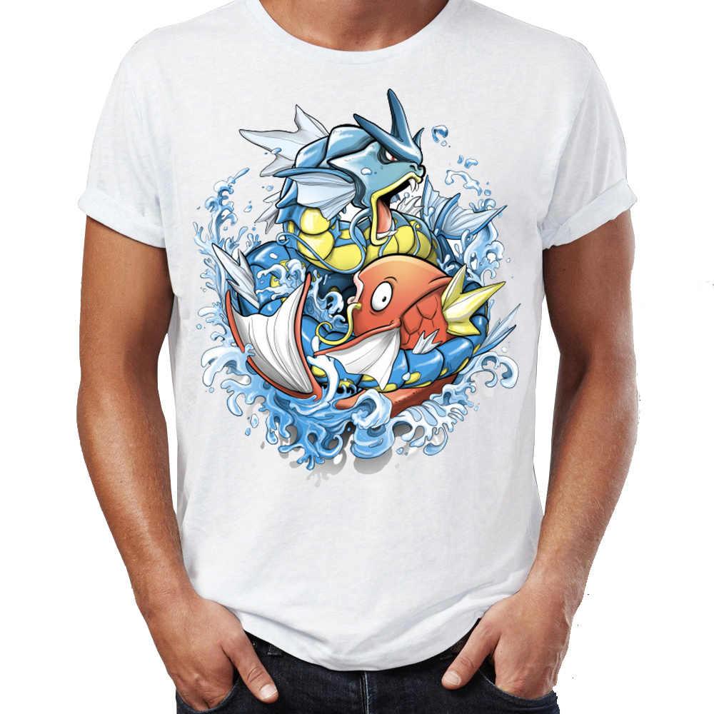 10fb1582 Men's T Shirt Magikarp Dream Your Dream Gyarados Pokemon Awesome Artwork  Printed Tee