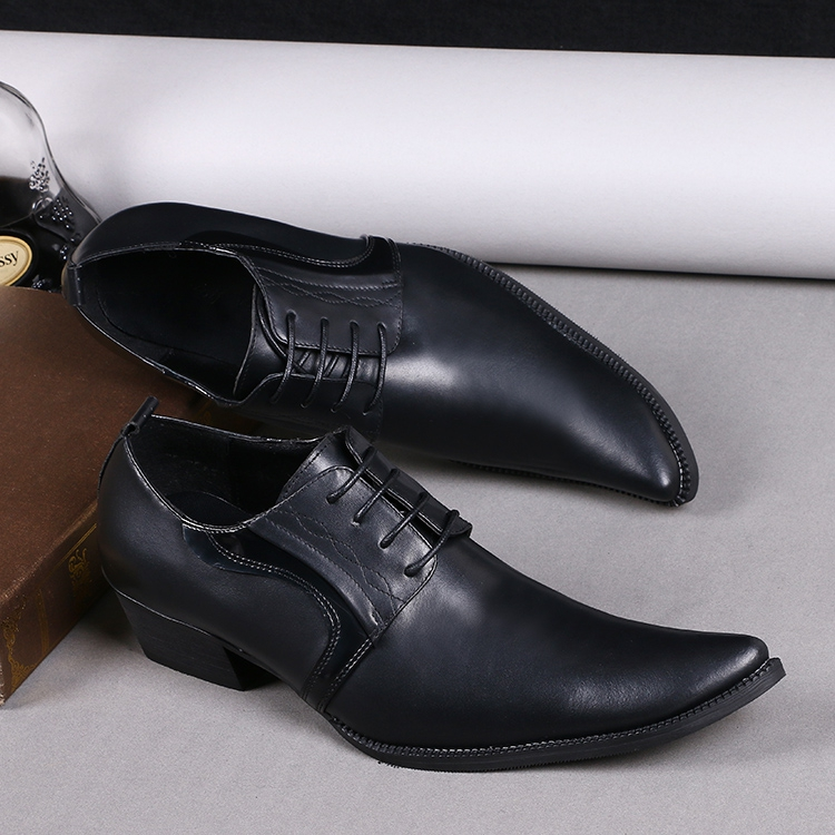 Classic Black color pointed slip on business men's formal oxfords Top quality cowhide leather wedding shoes men sapato masculin 2016 new arrival top quality men s slip on basic oxfords real cowhide leather formal wedding dress shoes men sapato masculino 46