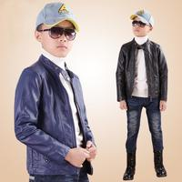 Big Boys Clothes Kids New Fashion long Jackets 2018 Spring PU Faux leather Boys Outwear For Childrens Brand Kids Dust coats