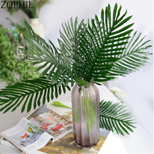 Artificial Plant Leaf 1 Branch Green Sago Cycas Wall Material Decorative Flowers Auxiliary Flower Decoration Fake Leaves