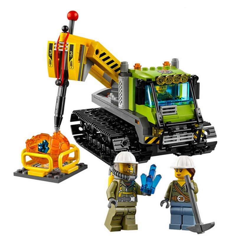 LEPIN 02003 350pcs City Series Volcano Expedition Drill Rig Building Blocks bricks Toys For Kids Christmas Gift 60122 кружка expedition первой помощи 350 мл