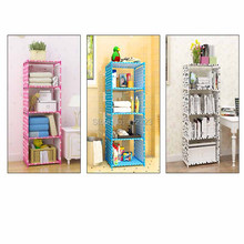 Creative shelf storage bookcase book shelf bookrack Strengthen cabinets kids racks cloth towel ark Display Stand Home Supplies