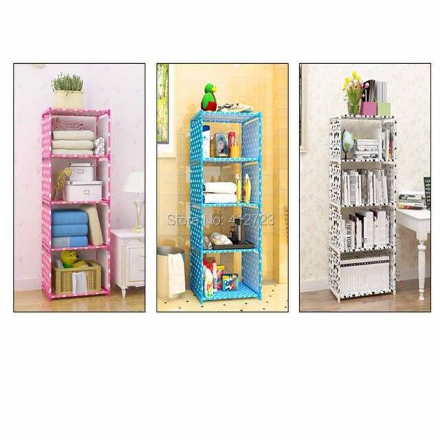 Creative Shelf Storage Bookcase Book Shelf Bookrack Strengthen Cabinets Kids  Racks Cloth Towel Ark Display Stand