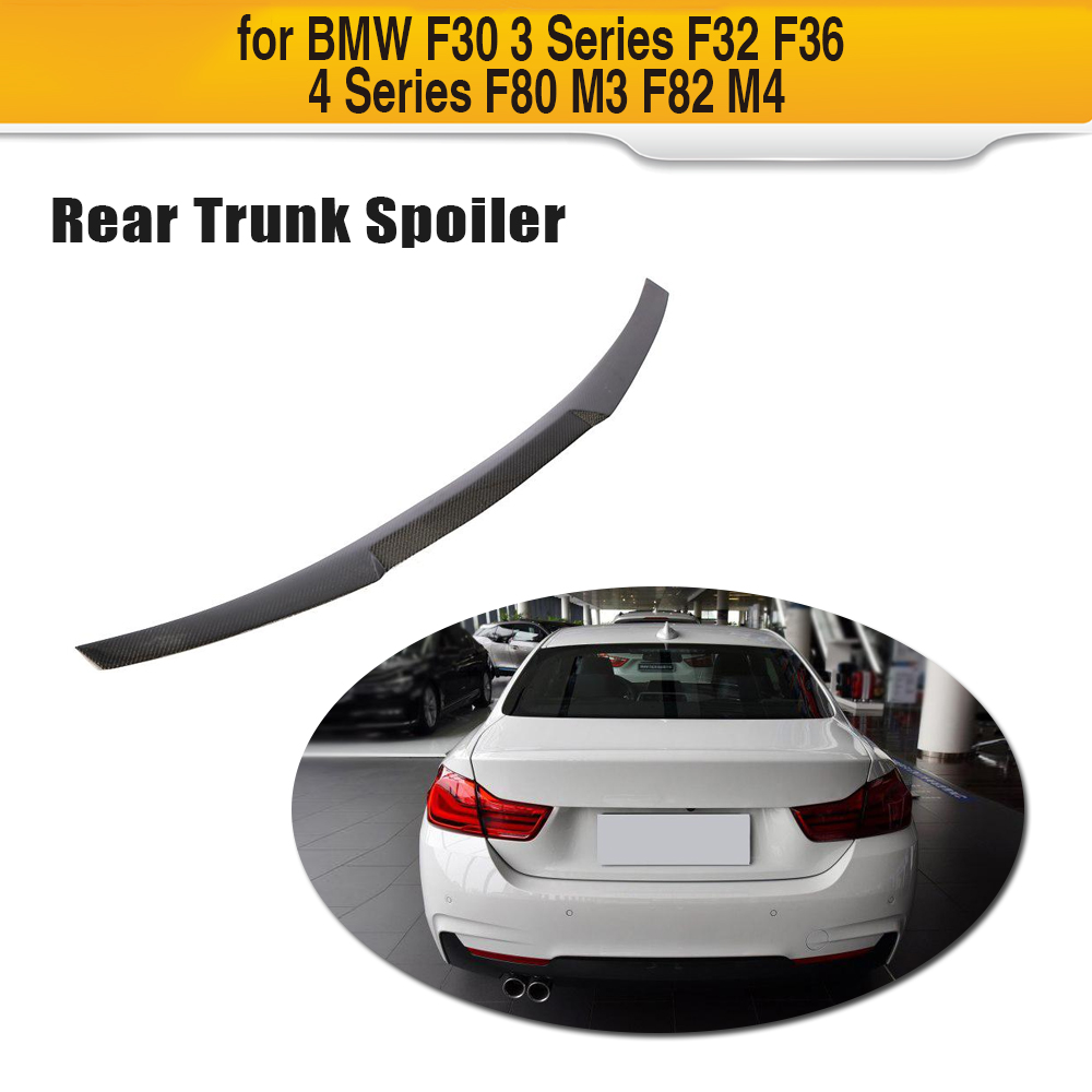 For F32 F33 Carbon Fiber Car Rear Spoiler Wing for BMW 4 Series F32 F33 Sedan Convertible 2014 2019 Trunk Boot Wing Lip|Spoilers & Wings| |  - title=