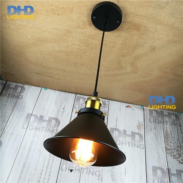 Small Modern Nordic Retro Edison Bulb Light Iron Vintage Loft Antique Adjustable DIY E27 Art Small Pendant Lamp Home Lighting