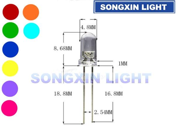 1000 pcs 5mm Piranha Super Flux White LED light Bulb