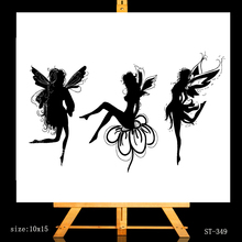 AZSG Pretty Dancing Fairy Clear Stamps For DIY Scrapbooking/Card Making/Album Decorative Silicone Stamp Crafts