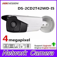 HiKvision English Version 4MP CCTV Camera DS-2CD2T42WD-I5 4MP Outdoor IR Bullet Network IP Camera Support H.264+ WDR