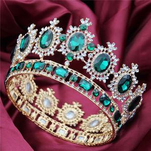 Image 3 - ขนาดใหญ่ Queen King ประกวดมงกุฎสำหรับงานแต่งงาน Tiaras และ Crowns คริสตัล Rhinestone มงกุฎเจ้าสาว Headdress เครื่องประดับผม