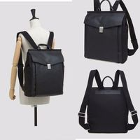 Korean Style Mens Laptop Shoulder Backpack Large Capacity Leather Black Bag Rucksack School Hiking Bag