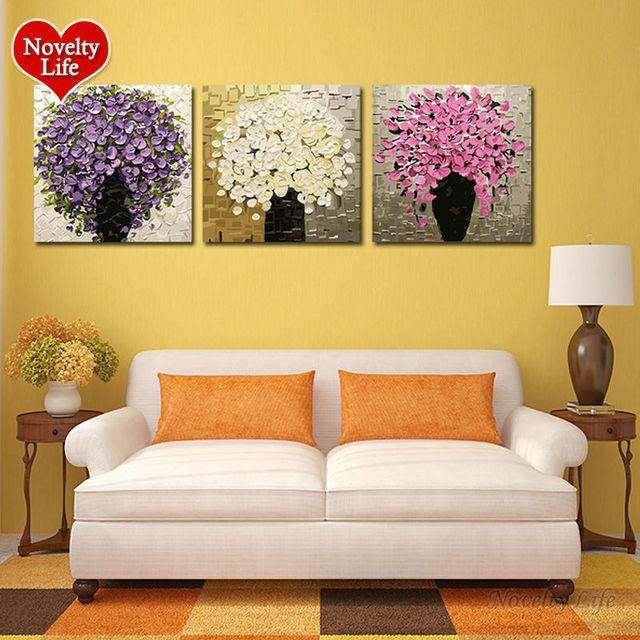 Frame/ Frameless Diy Painting by Numbers Digital Oil Paint Flowers ...